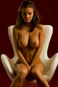 Model Linda in Chair