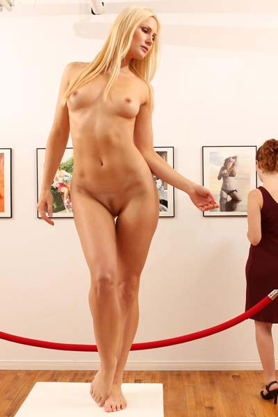 Model Peyton Priestly in Art