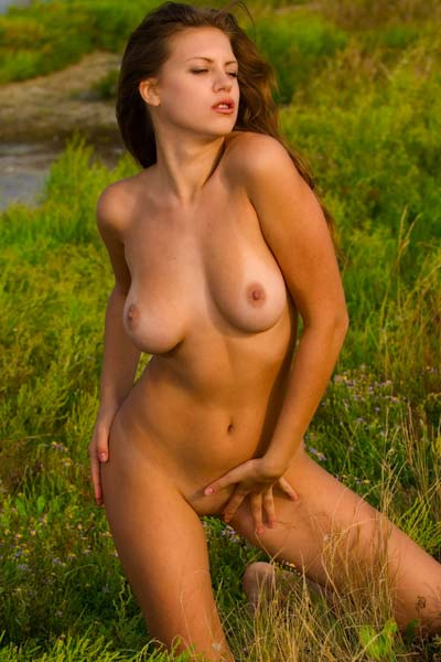 Model Nadya in Grass