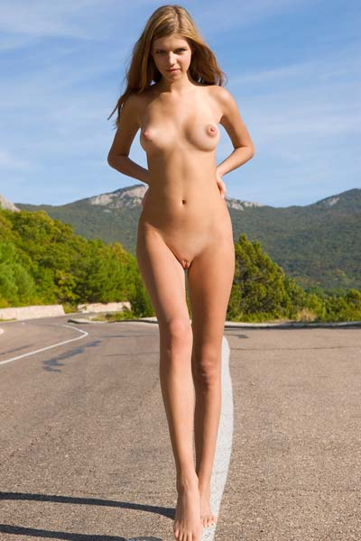 Model Britney in Road