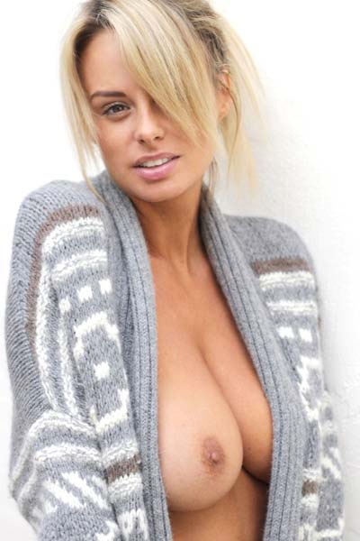 Model Rhian Sugden in Serious Cozy
