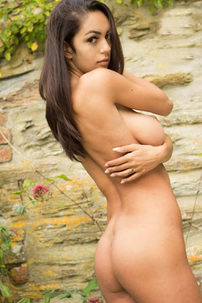 Model Ela Andrea in Garden Wall