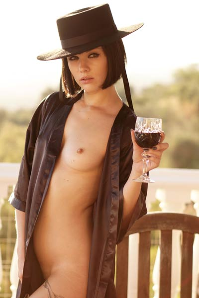 Model Mellisa Clarke in Serious Senorita